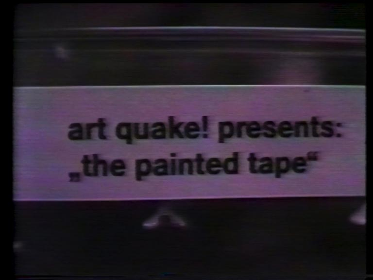 videogalerie Mike Steiner, art quake! the painted tape